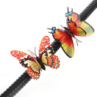 other wedding decorations - 20pcs cm D Artificial Butterfly Fridge Magnet Double Wing for Home Christmas Wedding Decoration H9937