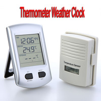 Digital weather station - Digital Wireless Indoor Outdoor Thermometer Weather Station Clock For Home Garden H9350