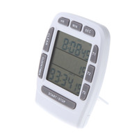 Wholesale LCD Digital Alarm Cronometro Para Cozinha kitchen Accessories Timer with Triple Display Line Timer Countdown Stopwatch Clocks H10844