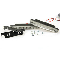 Milliongadgets LED 3 Car Truck Van Daytime Running Light Head Lamp White 8 LED DRL Daylight Kit