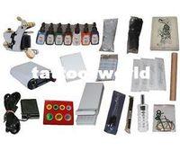 Beginner Kit   USA Dispatch_NEW Professional Machines Tattoo KIT 1 Machine GUN Equipment INK GUN SET US0027