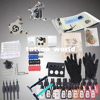 Beginner Kit   USA Dispatch_NEW Professional Machines Tattoo KIT 2 Machine GUN Equipment INK GUN SET Supplybest tattoo kits
