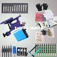Beginner Kit   NEW Professional 1 Rotary Machine Tattoo KIT Machine GUN Equipment INK GUN SET