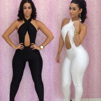 Cotton Shorts Women New 2013 Black White Jumpsuit Women Across Backless Overalls Club Sexy Bodysuit Bodycon Jumpsuits For Party S M L