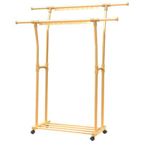 Wholesale Yishi can double pole telescopic folding aluminum alloy floor balcony lift racks clothes rack drying racks