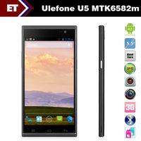 "Quad Core Android Lenovo Star Ulefone U5 Mobile Phone 5.5"" IPS QHD Screen MTK6582m Quad Core 1.3GHz 4GB Rom 5.0MP Camera Dual Sim"