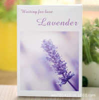 Valentine's Day Scenic Postcard Waiting for love lavender boxed postcards Christmas gift cards scenery 32pcs set Greeting cards Wedding Birthday Free shipping