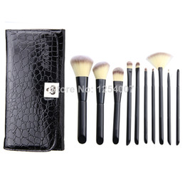 Wholesale 10 Synthetic Makeup Brush Set Cosmetics Foundation blending blush makeup tool NEW