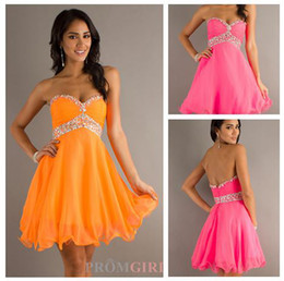 Wholesale 2014 Hot Sale Sweetheart Beaded Short A Line Chiffon Homecoming Dresses Cocktail Party Gown Graduation Dresses E709