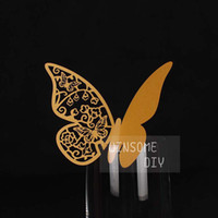 Wholesale 100pcs laser cut Wedding party Butterfly Place Card Wedding butterfly decoration place cards BKHD002