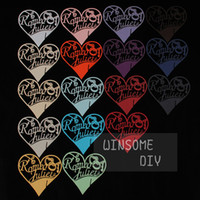 Wholesale 100pcs New Lovely Romeo and Juliet heart shape wedding Place Card heart Wedding Party decoration cards