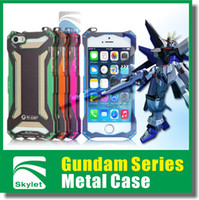 Wholesale For S5 Iphone S Heavy Duty Iphone case Gundam Series Style Metal Case Fashion Design Retail Package