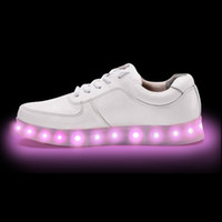 Wholesale new arrival Shine shoes luminous USB rechargeable LED lights thick leather shoes bottom female sandals casual shoes freeshipping HOT