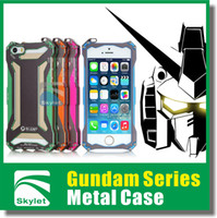 Wholesale For Samsung Galaxy S5 Iphone S Luxury Heavy Duty Iphone case Gundam Series Style Metal Case Fashion Design Retail Package