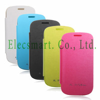 For Samsung Metal Yes Brand New PU leather Flip Battery Back Case Cover for Samsung Galaxy S3 Mini i8190