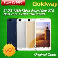 "Octa Core Android Lenovo Original ZOPO ZP1000 Mobile phone MTK6592 Octa Core CPU Android 4.2 5"" IPS 16GB Ultra Thin 5MP 14MP Camera Dual SIM OTG 3G WCDMA"
