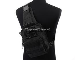 Wholesale 1000D Molle Outdoor Tactical Low Profile Men Messenger Bags Utility Ways Shoulder Sling Pouch Backpack Tan Black Olive Drab