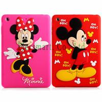 For Apple iPhone apple mini mouse - Cute Adorable D Cartoon Micky Minnie Mouse Soft Silicon Case Cover For iPad Mini Mini Retina