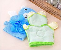 Wholesale Gloves bath rub child five colors Cartoon style With bath flower toddler Free FEDEX