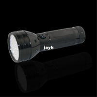 Flashlights Aluminum AA Free Shipping 50pcs lot 51 LED UV Ultra Violet Blacklight Flashlight Torch Light Middle Switch 3aaa Battery (not included)