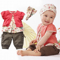 Girl Summer Cotton Blends 3pcs: Headband+shirt+pant Princess Summer Clothes New Hot Selling 100% Cotton Baby Girls Clothing Set Three Pieces Outfits