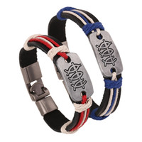 Wholesale 2014 new Woven bracelet jewelry sets with a fish metal decoration jewelry beaded Bracelets with red blue color