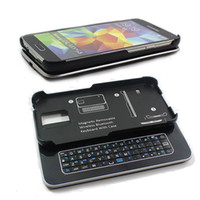 Wholesale 20pcs bluetooth keyboard case for samsung galaxy s5 magnetic removable Slide out bluetooth keyboard for s5 hard case keyboard free DHL