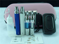 Double Brown Metal Ego Double Starter Kit with Mini X9 Protank EGO-T Battery in Zipper Case Electronic Cigarette 10 Colors for Choice DHL Free Shipping