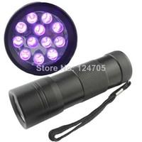 DC SMD 3528 Yes Hot Sale 200pcs lot 12 LED UV Flashlight 395-400nm Wavelength UV Torch