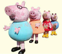 Mascot Costumes Animal Occupational New Fashion Peppa Pig Family mascot costumes performance props apparel halloween outfit dress Adult Size for Kids