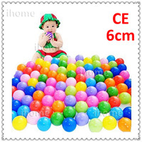 Cheap 6mm Top quality CE approved plastic kids ocean ball for Tents or swimming pool, 100pcs set and 10 colors Children game ball pits