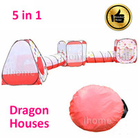 Wholesale 5 in Childern Playing Outdoor Pop Up House Kids Play Game playground equipment multi function tent for child exercise toy