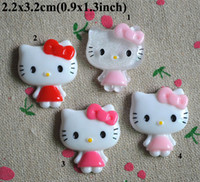 Resin 2.2x3.2cm(0.9x1.3 inch) Resin Free Shipping 100pcs Flatback Resin 2.2x3.2cm Embellishments Hair Bow Center Kids Crafts DIY RC07040