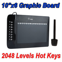 Wholesale 10 quot x6 quot USB Drawing Graphic Tablet Board For PC Laptop Computer with Cordless Digital Pen Levels Hot Keys