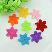 Wholesale Set of Flower Patches Non Woven Fabric Appliques Patches for DIY Decor