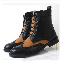 Half Boots Men Cowskin hot seliing British round head men's fashion leather boots Fashion boots boots High for dress shoes