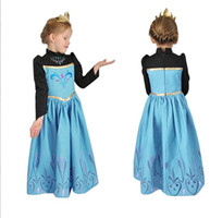 TuTu Summer Ball Gown New 2014 Pre-sale Frozen Princess Dress For Girls Children Elsa Anna Long Sleeve Vintage Dresses Elegant Kids Birthday Party DressesA4335