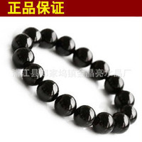 Stone Fashion Bracelets Crystal black tourmaline bracelet authentic natural crystal jewelry fashion good luck noble men and women bracelet beads