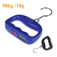 Wholesale 50kg g Digital Portable Electronic Luggage Weight Hook Hanging Scale LCD Display kg lb oz g Blue Kitchen Scales