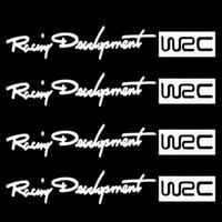 Carbon Fiber Vinyl Film Stickers Door 4Pcs Set Racing Development WRC Car Sticker Auto Door Knob Handle Decals Reflective Stickers White Free Shipping Drop Shipping