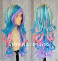 Synthetic Hair Wig,Half Wig Multi-Color FREE SHIPPING >> Cosplay Harajuku Lolita Multi Color Mix Heat-Resistant Party WIG