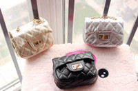 Wholesale Korean Purses Princess - Wholesale Korean Children Coin Purses Soft PU Diagonal Single Shoulder Fashion Princess Chain Bags 004