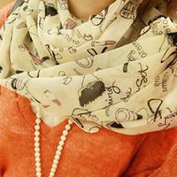 Cheap Wholesale - Scarves , 2014 explosion models super cheap high heels I love lipstick chiffon scarf, chiffon scarf, scarves 160*45cm