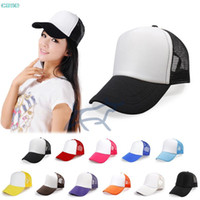 trucker mesh foam cap - 2014 New Arrival Classic Trucker Foam Front Mesh Hat Baseball Tennis Protective Cap New Fashion Colorful