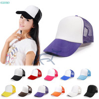 Wholesale Classic Foam Trucker Hat Adorable Sport Mesh Baseball Cap Outdoor Hiking Climbing Sunhat Fashion Gift New