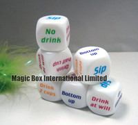 bachelor party gifts - MOQ PC Drink Dice Bachelor Hen Party Novelty Gift Funny Drinking Decider Game Dice Sex Dice