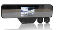 "1 channel 1.5 640x480 car dvr Free shipping!!1280*480pixels 3.5"" LCD Dual Lens Car Camera DVR Video recorder Rearview Mirror"