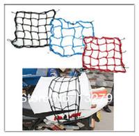 Wholesale 40X40cm Motorcycle Motorbike Luggage Net Hooks Hold Down Helmet Cargo Mesh Net Bungee