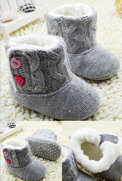 Wholesale 2014 warm winter boots Grey woven toddler boots Side baby Velcro tall canister boots Kids boots pairs CL
