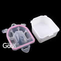 nail salon equipment - Nail Art Factory BeautyGaGa Professional Supply Nail Salon Equipment Double Layer Plastic Acrylic Nails Quick Soak Manicure Bowl